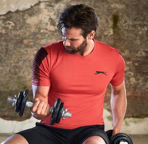 Slazenger Herren-Fitness-T-Shirt mit Streifen auf der Schulter
