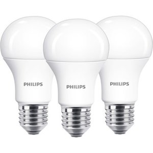 Philips LED-Leuchtmittel Glühlampenform E27/13 W (1521 lm) Warm 3er-Pack EEK: A+