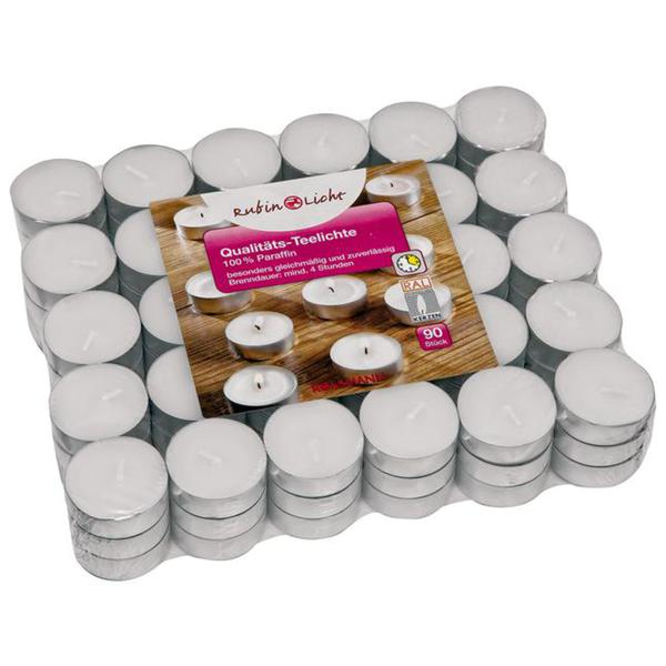 RUBIN Qualitäts-Teelichte