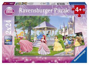 Puzzle 2 x 24 Teile Zauberhafte Prinzessinnen Ravensburger