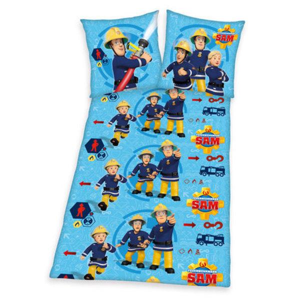 Bettwasche Feuerwehrmann Sam Blau 135x200 Cm Von Roller Ansehen