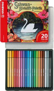 LIMITED EDITION Filzstifte Pen 68 Schwan, 20 Farben, Metalletui