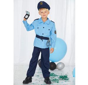 Polizisten-Kinderkostüm, 4-teilig