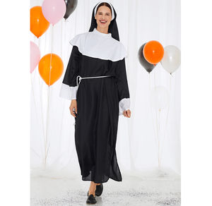 Damen-Nonnen-Kostüm, 3-teilig
