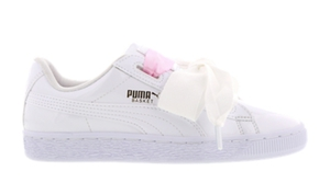 puma basket heart kinder weiss