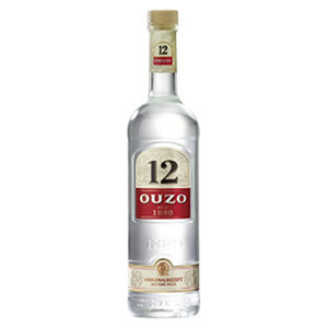 Ouzo 12, Hierbos oder Gold 38/28/36 %  Vol., jede 0,7-l-Flasche