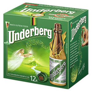 Underberg 44 % Vol.,  jede 12 x 20-ml-Packung