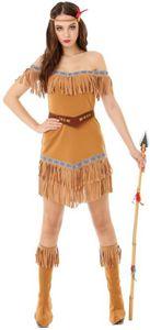 Kostüm - Indianerin - für Erwachsene - 4-teilig - verschiedene Größen