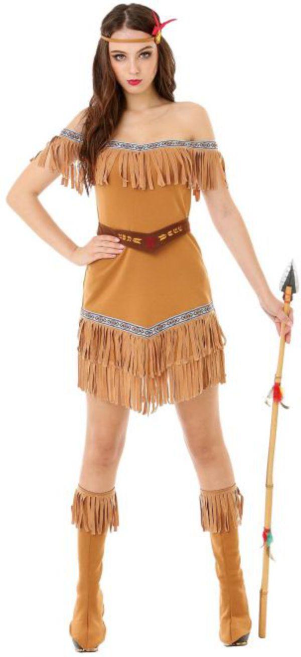 Kostum Indianerin Fur Erwachsene 4 Teilig Verschiedene