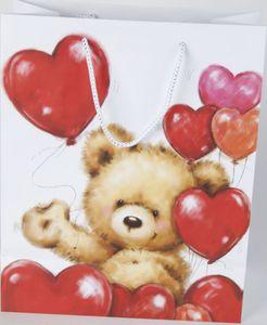 Geschenktasche Bär mit Herzen