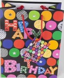 Geschenktasche - Happy Birthday - Kugeln