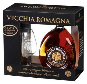 Vecchia Romagna 0,7 Liter + Gratis Glas