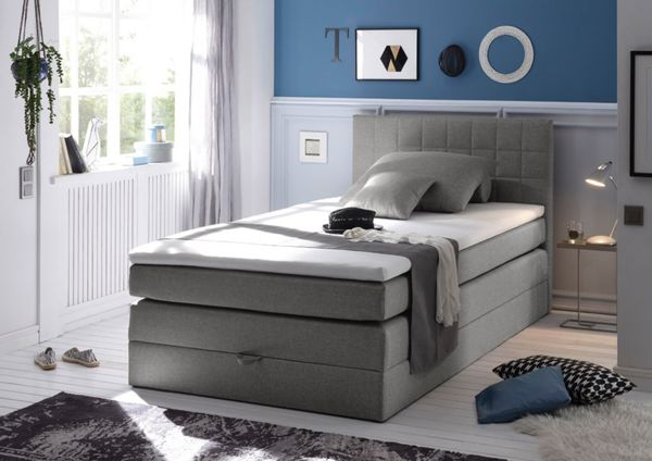 brw boxspringbett hawaii mit bettkasten 120x200 cm weboptik grau von netto md f r 599 ansehen. Black Bedroom Furniture Sets. Home Design Ideas