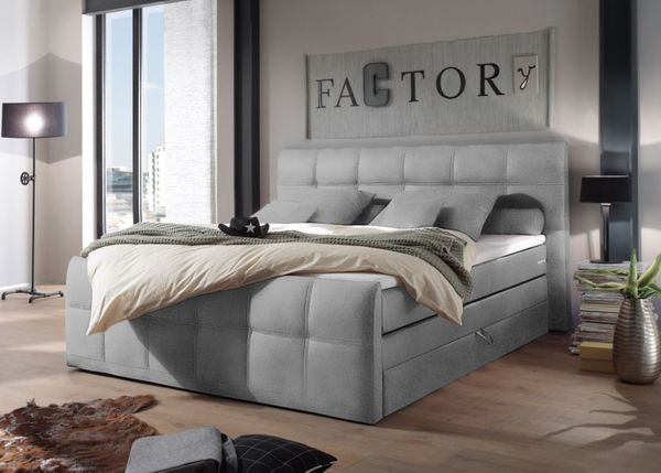 brw boxspringbett sacramento mit bettkasten 180x200 cm grau von netto md f r 849 ansehen. Black Bedroom Furniture Sets. Home Design Ideas