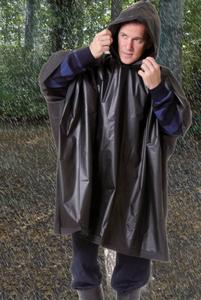 Regenponcho mit Kapuze, Einheitsgröße, schwarz Westfalia