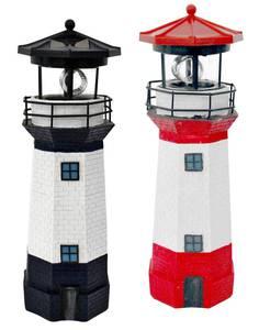 Solar Leuchtturm in rot/weiß oder blau/weiß