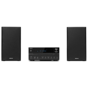 MEDION LIFE P64262 Micro-Audio-System mit CD-Player, DAB+, Bluetooth 3.0, USB-Anschluss & -Ladefunktion, AUX-Anschluss, PLL-UKW-Stereo-Radio, 2 x 15 W RMS, schwarz