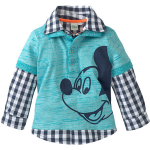 Mickey Mouse Hemd im Layer-Look