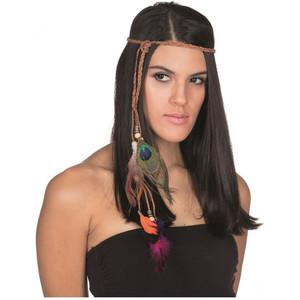 Rubies - Kopfband mit Federn bunt