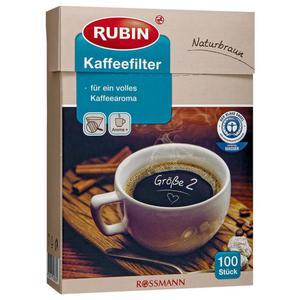 RUBIN Kaffeefilter naturbraun Gr. 2