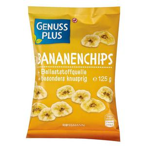GENUSS PLUS Bananenchips 0.79 EUR/100 g