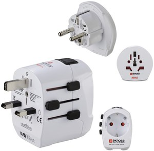 Hama World Travel Pro Light USB Reisestecker