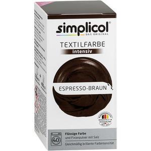 simplicol Textilfarbe intensiv Nr. 1816 Espresso-Braun 1 Set