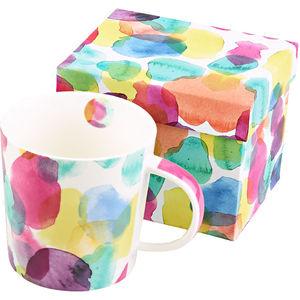 ppd Porzellan Becher Trend-Mug, Aquarell Dots