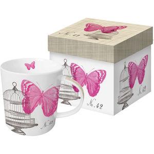 ppd Porzellan Becher Trend-Mug, Piedmont Papillo