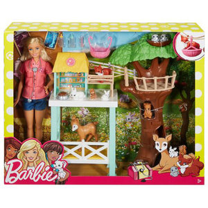 Mattel Barbie Tierrettung Set