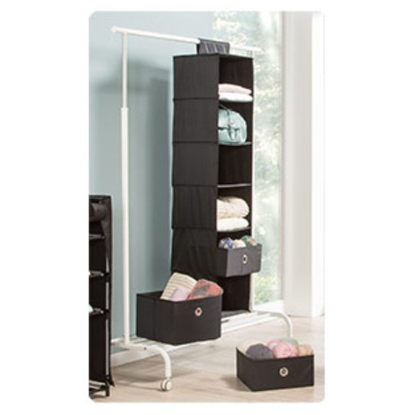 Befestigung Für Kleiderstange hängeregal in schwarz oder grau mit klettverschluss zur