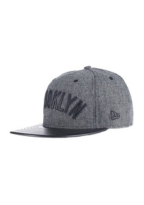 NEW Era Leather Tweed Brooklyn Nets Fitted Cap - Schwarz