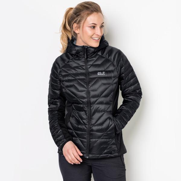 Großhandelsverkauf elegantes und robustes Paket Brandneu Jack Wolfskin Daunenjacke Frauen Argo Supreme Women XL schwarz
