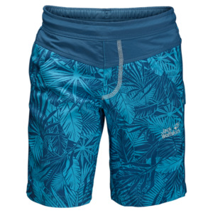 Jack Wolfskin Shorts Jungen Jungle Shorts Boys 92 turquoise all over