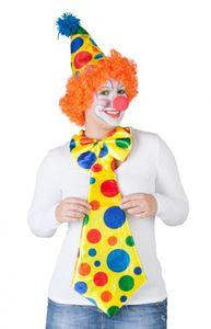 Große Clown- Krawatte mit Fliege
