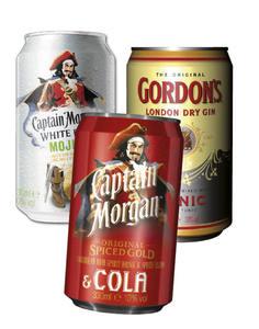 Captain Morgan/ Gordons Gin & Tonic