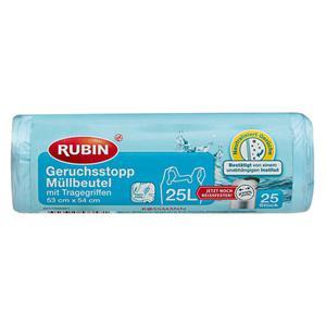 RUBIN Geruchsstopp Müllbeutel mit Tragegriffen 25 l
