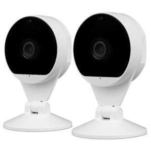 MEDION Smart Home Sparpaket - 2 x Smart Home FHD IP Kamera P85708, Smart Home, Videoauflösung: 1920 x 1080, Bis zu 120° Blickwinkel, Bewegungserkennung (weiß)