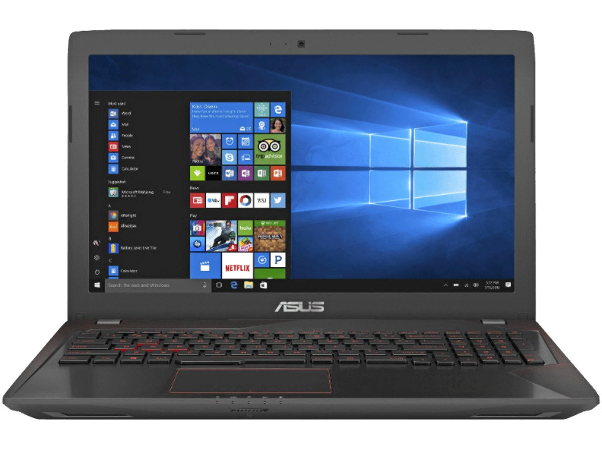 Bild 1 von ASUS FX553VE-DM486T, Gaming Notebook mit 15.6 Zoll Display, Core™ i7 Prozessor, 24 GB RAM, 1 TB HDD, 256 GB SSD, GeForce GTX 1050 Ti, Schwarz