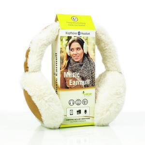 Sharon Music Bluetooth Ohrenschützer-Kopfhörer Cremeweiß/Cognacbraun