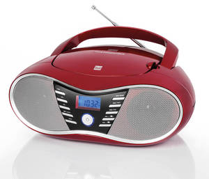 Dual Bluetooth-Boombox P60BT, Rot
