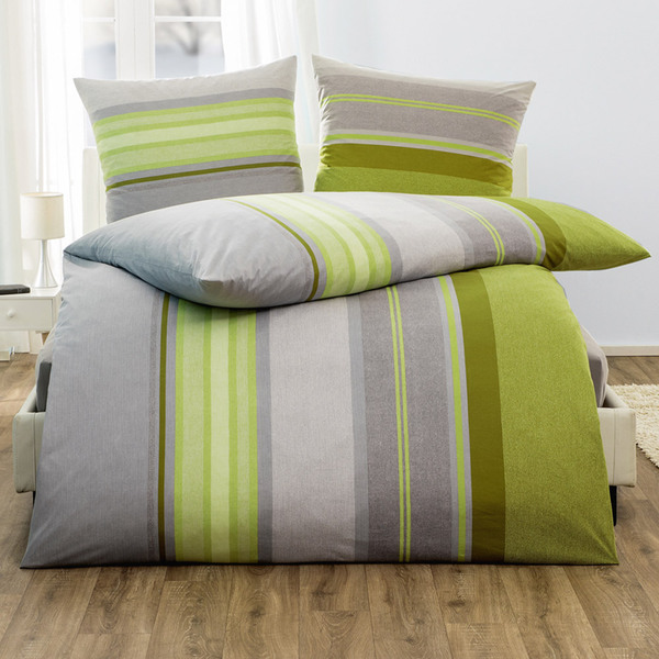 Dreamtex Jersey Bettwäsche Aloe Vera Ca 135 X 200 Cm Stripes