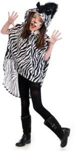 Kostüm Poncho Zebra Gr. 104/116