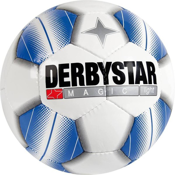 Fußball Magic Light Gr. 5 weiß/blau DERBYSTAR