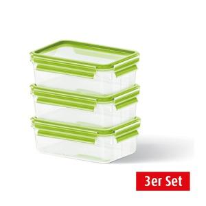 EMSA Frischhaltedosen im 3er Set stapelbar CLIP & CLOSE 3 x 0,55 l Grün