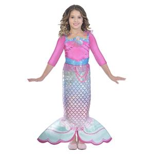Barbie - Kinderkostüm: Regenbogen Meerjungfrau Gr. M