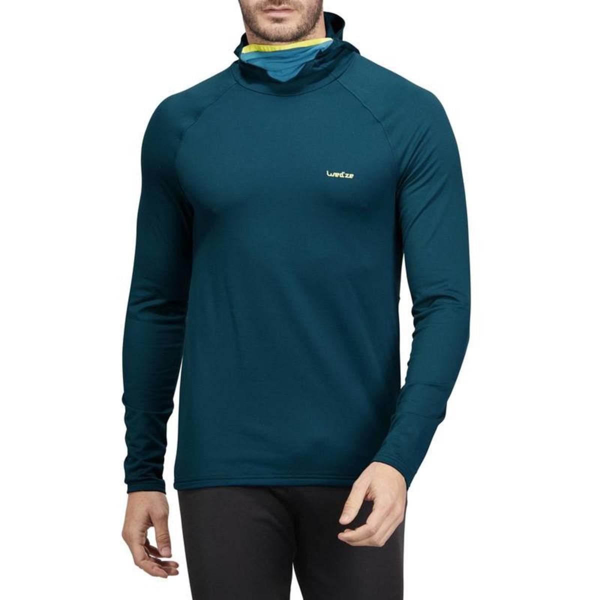 Bild 3 von WED´ZE Skiunterwäsche Funktionsshirt Freshwarm Neck Herren blau , Größe: S