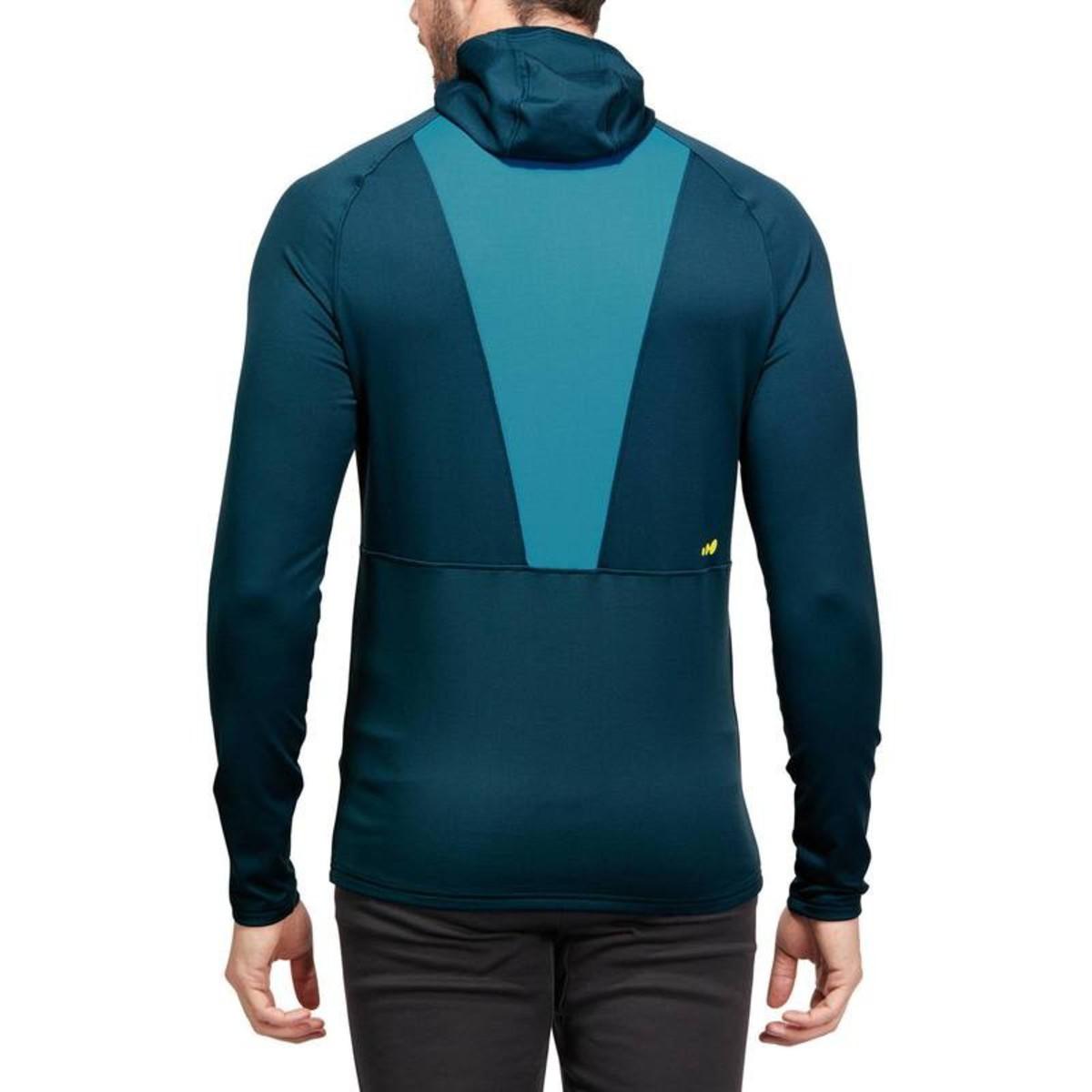 Bild 5 von WED´ZE Skiunterwäsche Funktionsshirt Freshwarm Neck Herren blau , Größe: S