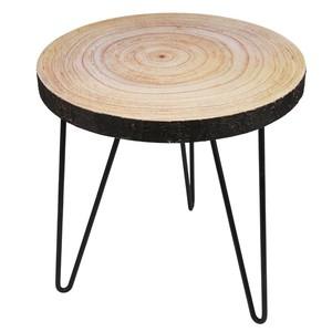 Beistell-Tisch Naturholz-Optik