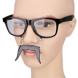 Schnurrbart mit Brille Karneval